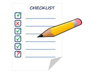 Checklist afvinken